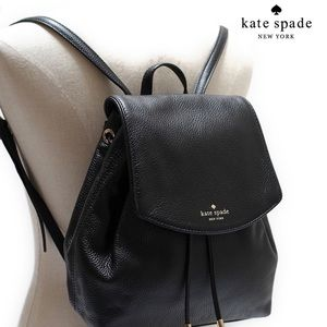 Kate Spade Black Leather Backpack Purse